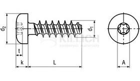 šroub 2.2x5 ZINEK půlkulatá hlava