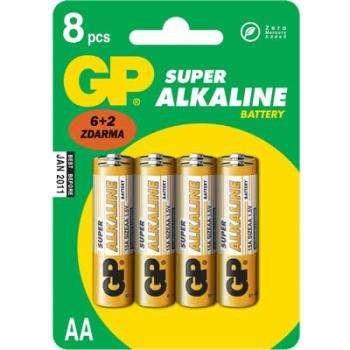 baterie GP SUPER AA Alkalické 1.5.V