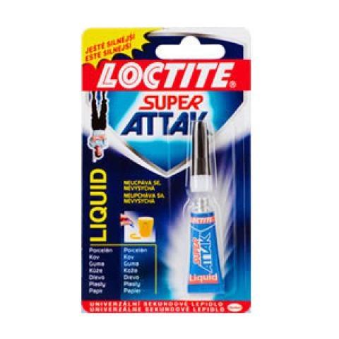 lepidlo Loctite Super Attak 3g vteřinové LIQUID Firma Killich s.r.o. nabízí Stavební chemii. V sortimentu stavební chemie jsou výrobky značky Loctite. Jedná se o speciální a vteřinová lepidla. Lepidla Loctite jsou  k dostání většinou v menších baleních.